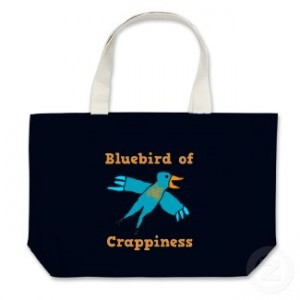 Bluebird of Crappiness Tote Bag