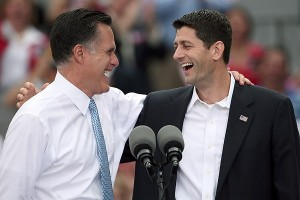 Romney and Ryan Big Grins, Arms around each other