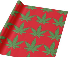 Personalized Weed Leaf Wrapping Paper